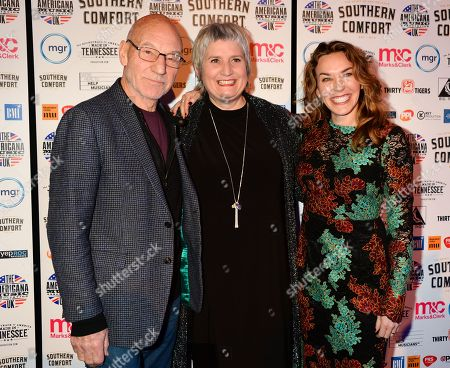 Sir Patrick Stewart, Stevie Freeman and Sunny Ozell