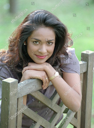 """Actress Kim Vithana pictured on the BBC TV film set of """"Specials"""" being filmed at the Pebblemill studios."""