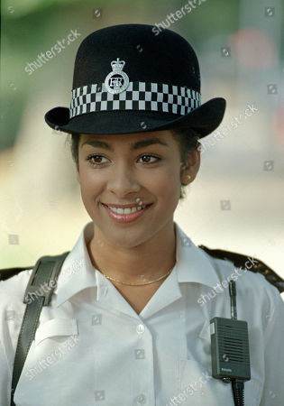 """Actress Kim Vithana pictured in uniform for the BBC TV film """"Specials"""" being filmed at the Pebblemill studios."""