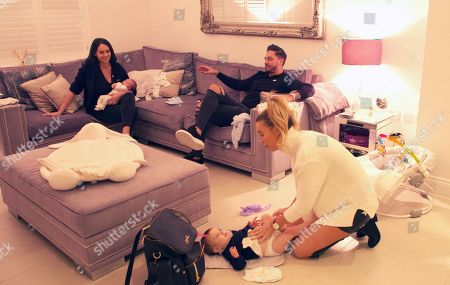 Becky Miesner, Mario Falcone, Ferne McCann and Sunday.