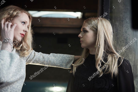 Stock Picture of Alice Orr-Ewing as Natalie Winqvist and Katie Faye as Christine Chase.