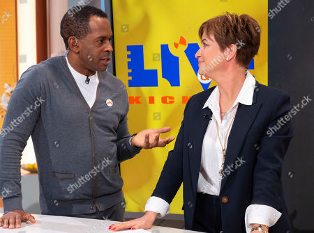 Andi Peters and Emma Forbes