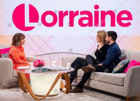 Lorraine Kelly, Hannah Graf and Jake Graf