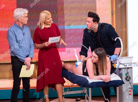 Phillip Schofield, Holly Willoughby with Shane Cooper