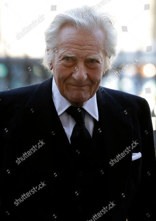 Stock Picture of British politician Michael Heseltine arrives to attend a service of thanksgiving for the life and work of Peter Carrington at Westminster Abbey in London, . Carrington was one of the last British politicians to have served in the Second World War and was a cabinet minister under six Conservative Prime Ministers