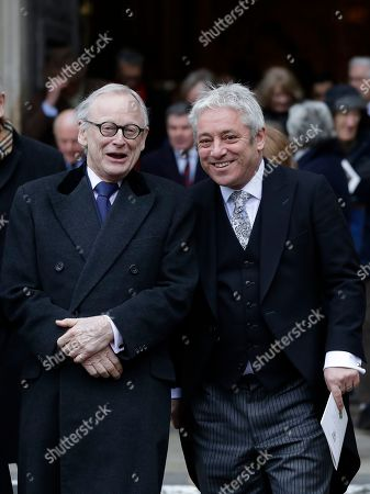 Stock Image of John Gummer, left, and Speaker of the House of Commons John Bercow