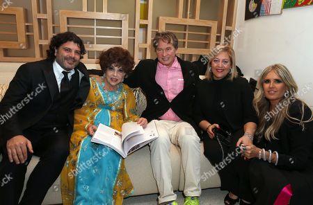 Flavio Colotta, Gina Lollobrigida, Val Kilmer, Patrizia Fersurella, Tiziana Rocca