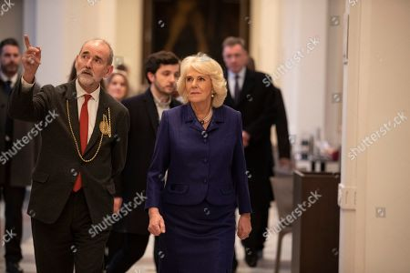 Editorial photo of Camilla Duchess of Cornwall visit to the Royal Academy of Art, London, UK - 31 Jan 2019