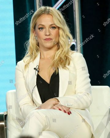 "Amanda Clayton participates in the ""City on a Hill"" panel during the Showtime TCA Winter Press Tour, in Pasadena, Calif"