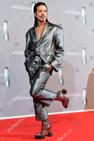 Dance jury member Jorge Gonzalez arrives for the prize-giving ceremony of the 20th German Television Award in Duesseldorf, Germany 31 January 2019. The Deutscher Fernsehpreis is awarded for television programming by four German TV channels annually.