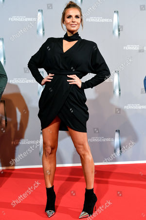 German TV presenter Laura Wontorra arrives for the prize-giving ceremony of the 20th German Television Award in Duesseldorf, Germany 31 January 2019. The Deutscher Fernsehpreis is awarded for television programming by four German TV channels annually.