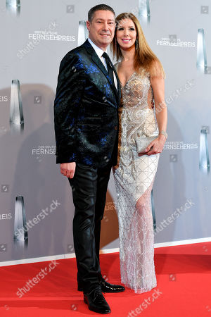 Dance jury member Joachim Llambi (L) and his wife Ilona (R) arrive for the prize-giving ceremony of the 20th German Television Award in Duesseldorf, Germany 31 January 2019. The Deutscher Fernsehpreis is awarded for television programming by four German TV channels annually.