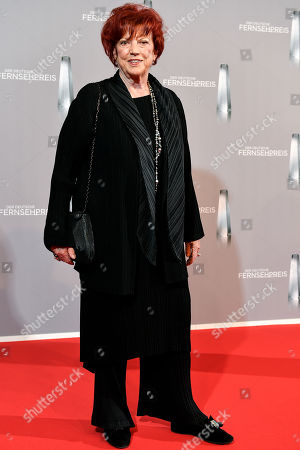 Regina Ziegler arrives for the prize-giving ceremony of the 20th German Television Award in Duesseldorf, Germany 31 January 2019. The Deutscher Fernsehpreis is awarded for television programming by four German TV channels annually.