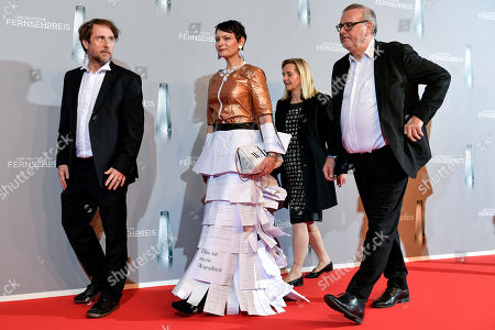 Bjarne Maedel (L) and guests arrive for the prize-giving ceremony of the 20th German Television Award in Duesseldorf, Germany 31 January 2019. The Deutscher Fernsehpreis is awarded for television programming by four German TV channels annually.