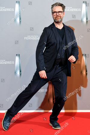 Stock Image of Matthias Matschke arrives for the prize-giving ceremony of the 20th German Television Award in Duesseldorf, Germany 31 January 2019. The Deutscher Fernsehpreis is awarded for television programming by four German TV channels annually.