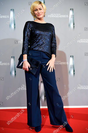Gesine Cukrowski arrives for the prize-giving ceremony of the 20th German Television Award in Duesseldorf, Germany 31 January 2019. The Deutscher Fernsehpreis is awarded for television programming by four German TV channels annually.