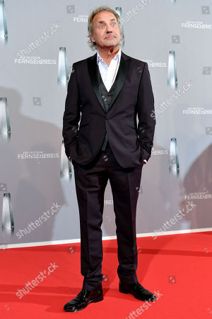 Stock Image of Uwe Ochsenknecht arrives for the prize-giving ceremony of the 20th German Television Award in Duesseldorf, Germany 31 January 2019. The Deutscher Fernsehpreis is awarded for television programming by four German TV channels annually.
