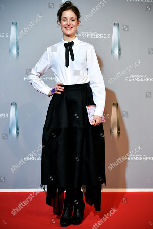 Luxembourgish actress Vicky Krieps arrives for the prize-giving ceremony of the 20th German Television Award in Duesseldorf, Germany 31 January 2019. The Deutscher Fernsehpreis is awarded for television programming by four German TV channels annually.