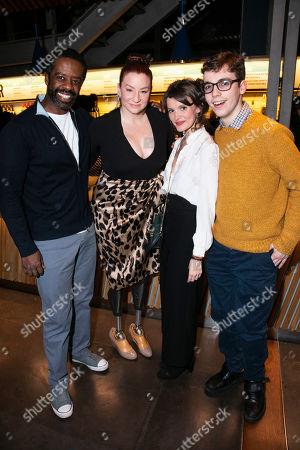 Adrian Lester (Eddie), Katy Sullivan (Ani), Emily Barber (Jess) and Jack Hunter (John)