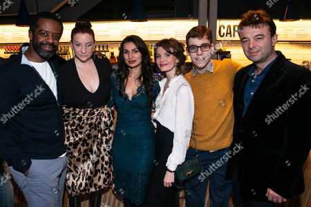Adrian Lester (Eddie), Katy Sullivan (Ani), Martyna Majok (Author), Emily Barber (Jess), Jack Hunter (John) and Edward Hall (Director)