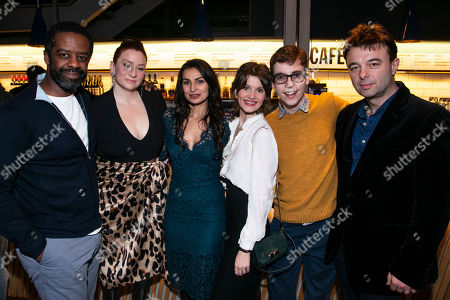 Stock Picture of Adrian Lester (Eddie), Katy Sullivan (Ani), Martyna Majok (Author), Emily Barber (Jess), Jack Hunter (John) and Edward Hall (Director)