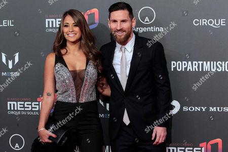 Antonella Roccuzzo and Lionel Messi