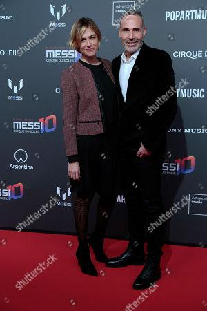 (L-R) Martina Klein and Alex Corretja