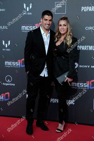 Luis Suarez and Sofia Balbi