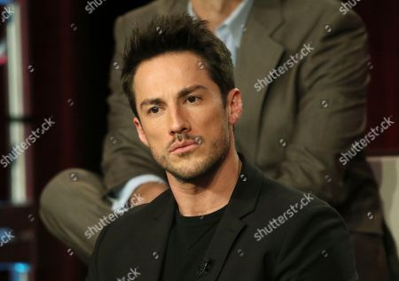 """Michael Trevino participates in the """"Roswell, New Mexico"""" panel during the CW TCA Winter Press Tour, in Pasadena, Calif"""