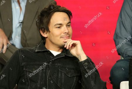 """Stock Picture of Tyler Blackburn participate in the """"Roswell, New Mexico"""" panel during the CW TCA Winter Press Tour, in Pasadena, Calif"""