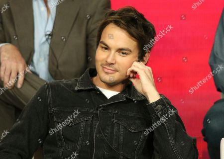 """Stock Image of Tyler Blackburn participate in the """"Roswell, New Mexico"""" panel during the CW TCA Winter Press Tour, in Pasadena, Calif"""