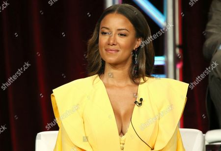 """Heather Hemmens participates in the """"Roswell, New Mexico"""" panel during the CW TCA Winter Press Tour, in Pasadena, Calif"""