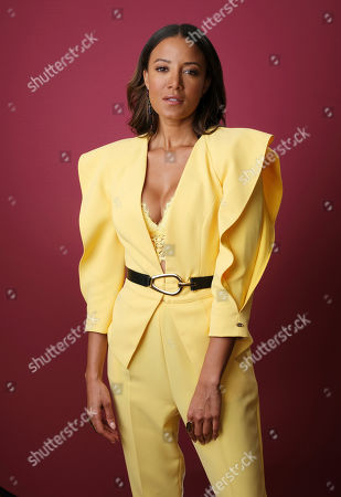 """Heather Hemmens, a cast member in The CW series """"Roswell,"""" poses for a portrait during the 2019 Winter Television Critics Association Press Tour, in Pasadena, Calif"""