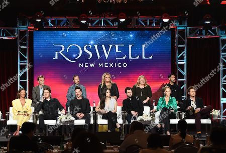 Editorial image of CW 'Roswell, New Mexico' TV Show Panel, TCA Winter Press Tour, Los Angeles, USA - 31 Jan 2019