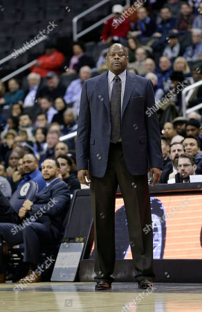Georgetown Hoyas Head Coach Patrick Ewing during a NCAA Men's Basketball game between the Georgetown Hoyas and the Xavier Musketeers at the Capital One Arena in Washington D.C