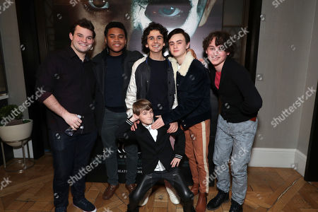 Jake Sim, Chosen Jacobs, Jackson Robert Scott, Jack Dylan Grazer, Jaeden Lieberher and Wyatt Oleff