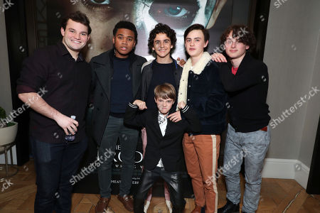 Stock Image of Jake Sim, Chosen Jacobs, Jackson Robert Scott, Jack Dylan Grazer, Jaeden Lieberher and Wyatt Oleff