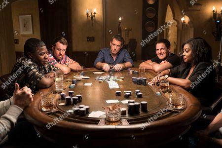 Stock Photo of Tracy Morgan, Chris Witaske as Eddie, Jason Jones, Mark Cuban and Taraji P. Henson as Ali Davis