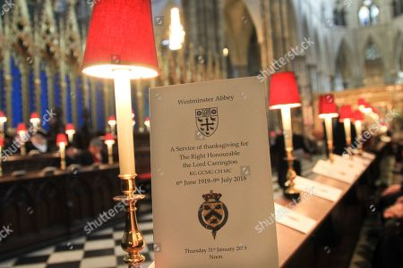 The Order of Service.