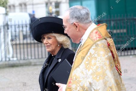 The Very Reverend John Hall, and Camilla Duchess of Cornwall.