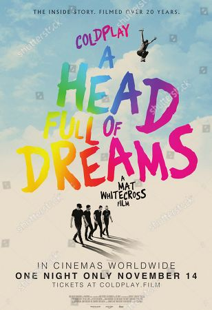 Stock Photo of Coldplay: A Head Full of Dreams (2018) Poster Art