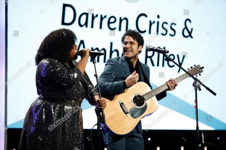 Amber Riley and Darren Criss