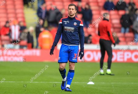 Andrew Taylor (03) of Bolton Wanderers in warm up