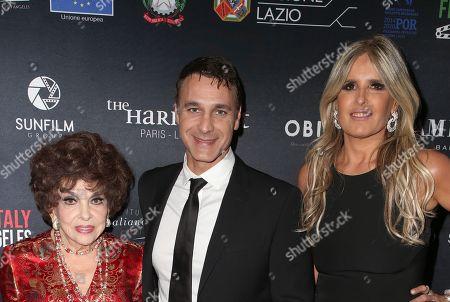 Gina Lollobrigida, Raoul Bova, Tiziana Rocca