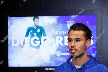 CD Leganes' new Mexican defender Diego Reyes speaks during a press conference for his presentation as new player of the Spanish La Liga club in Leganes, outside Madrid, Spain, 01 February 2019.