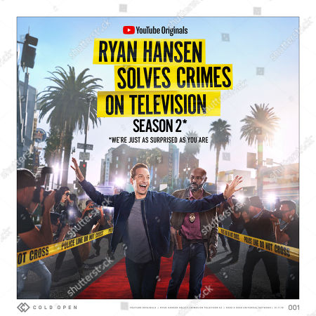 Stock Photo of Ryan Hansen Solves Crimes on Television (2019) Poster art. Ryan Hansen and Wood Harris as Vince Vincente