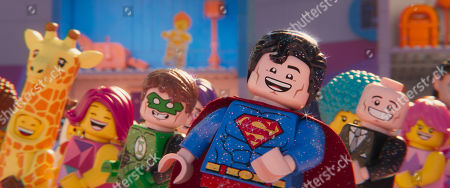 Stock Picture of Green Lantern (Jonah Hill) and Superman (Channing Tatum)