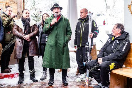 Editorial photo of Arnold Schwarzenegger presents his branded ski, Kitzbuehel, Austria - 26 Jan 2019