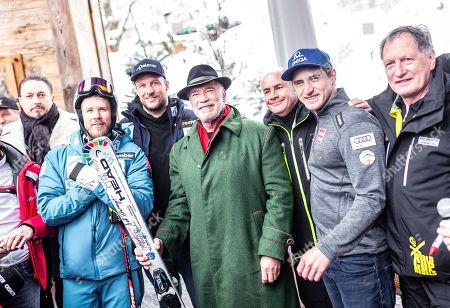 Editorial picture of Arnold Schwarzenegger presents his branded ski, Kitzbuehel, Austria - 26 Jan 2019