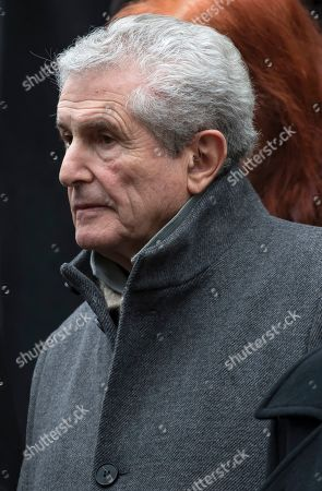French film director Claude Lelouche attends the funeral of late French composer Michel Legrand at the Saint-Alexandre-Nevsky Orthodox church in Paris, France, 01 February 2019. Oscar-winning Legrand, who composed music scores for classic films such as 'The Umbrellas of Cherbourg', died aged 86 on 26 January 2019.